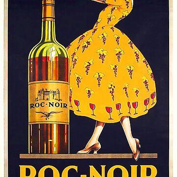 Cartel del anuncio del vino del vintage de NoraMohammed