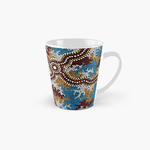 Aboriginal Art Authentic - Wetland Dreaming - 100% Authentic Direct from Artist Tall Mug