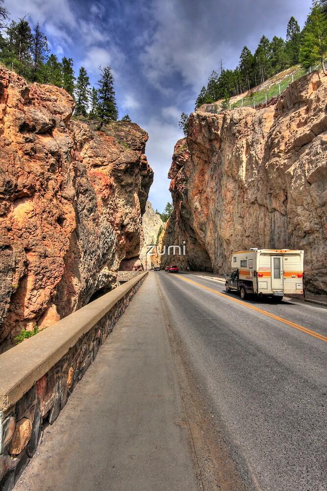 Road through canyon by zumi