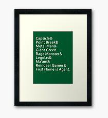 Nicknames Framed Print