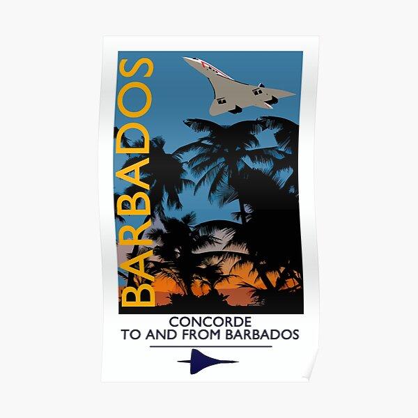 Concorde vintage style Barbados Poster