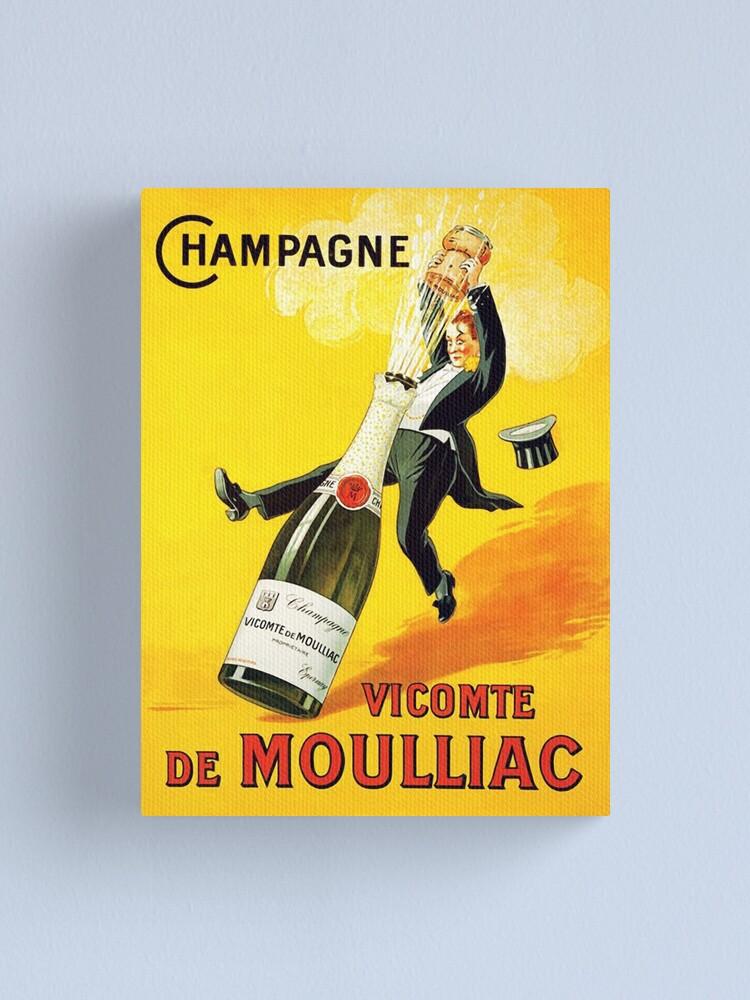 Alternate view of  Vintage Wine Poster Canvas Print