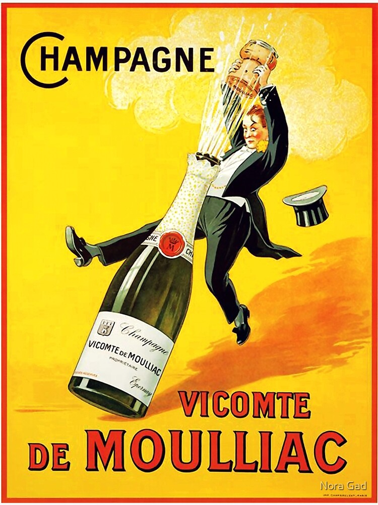 Vintage Wine Poster by NoraMohammed
