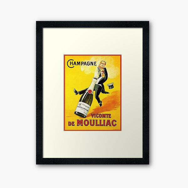 Vintage Wine Poster Framed Art Print