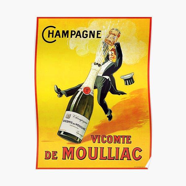 Vintage Wine Poster Poster