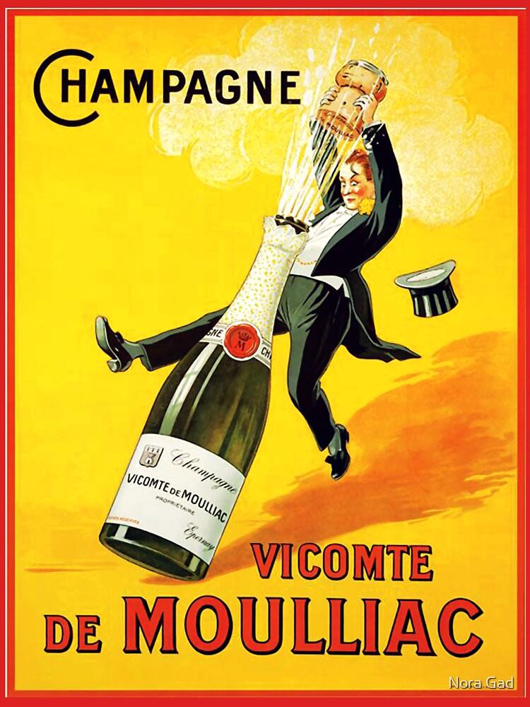 Cartel del vino del vintage de NoraMohammed