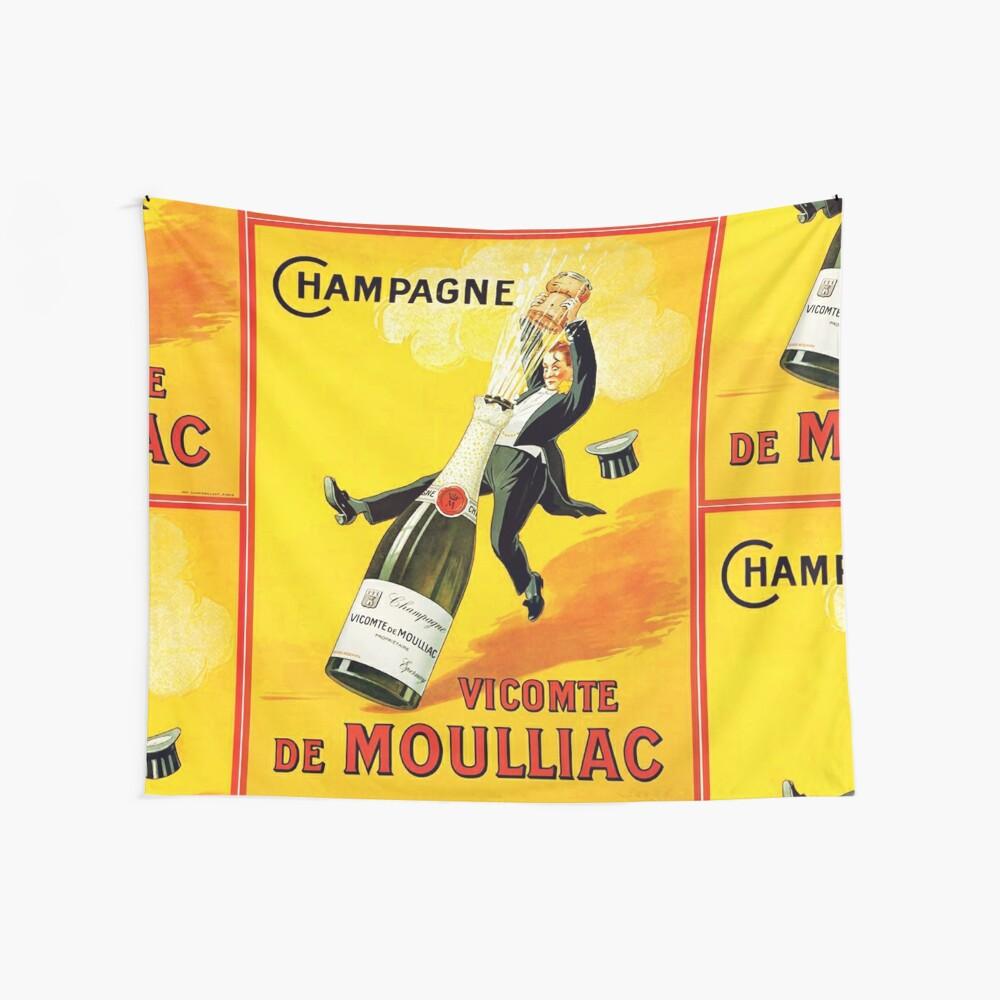Cartel del vino del vintage Tela decorativa