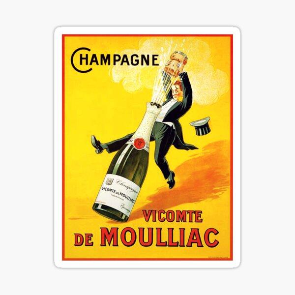 Vintage Wine Poster Sticker