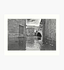York Lendal Bridge Flood Art Print