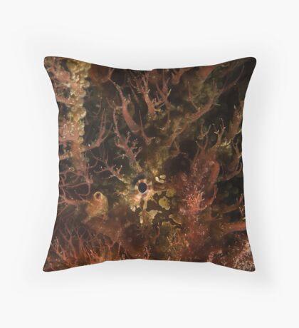 Tasselled Anglerfish Portrait Throw Pillow
