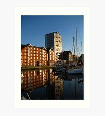 Apartments on the Quay, Ipswich, Suffolk Art Print