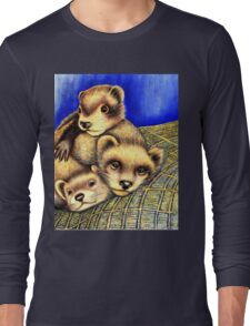 Ferret Layer cake  Long Sleeve T-Shirt