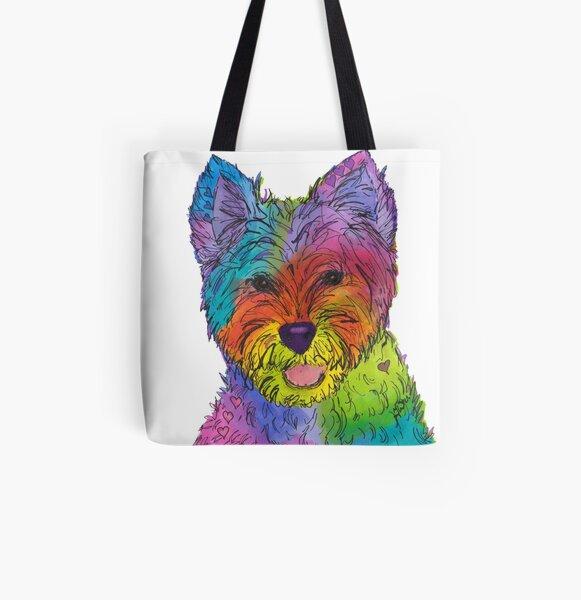 Pop Goes West - Pop Art West Highland Terrier All Over Print Tote Bag