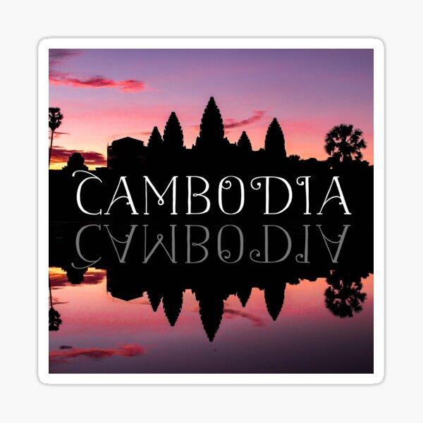 Cambodia - Angkor Wat Sunset Sticker