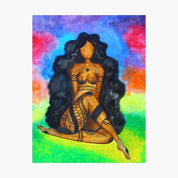 Melanin Yoga Goddess  Photographic Print