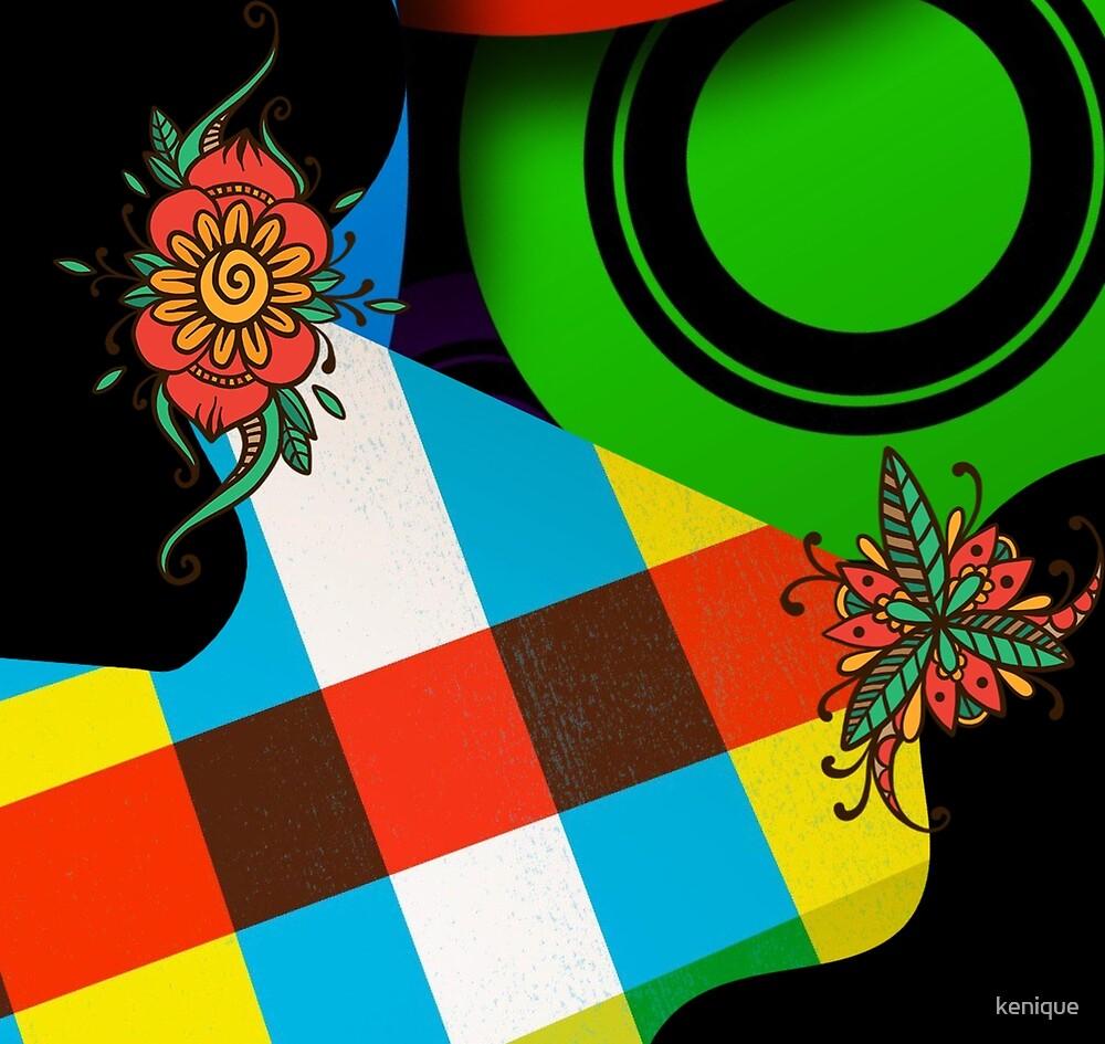 Color Block Floral by kenique