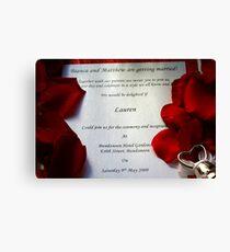 Wedding Invite Canvas Print