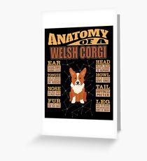 Anatomy Of A Welsh Corgi Cardigan - Funny Welsh Corgi Cardigan Design Grußkarte