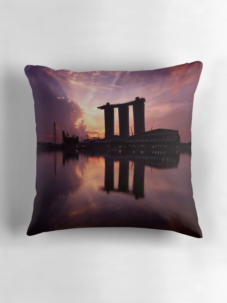 "Marina Bay Sands Singapore"" Throw Pillows by riotvan"