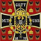 Prussian Battle Flag of 1870 on red by edsimoneit