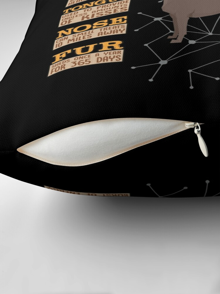 Alternate view of  Anatomy Of A Xoloitzcuintli - Funny Xoloitzcuintli Design Throw Pillow