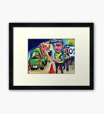 Booze Bus Duties Framed Print