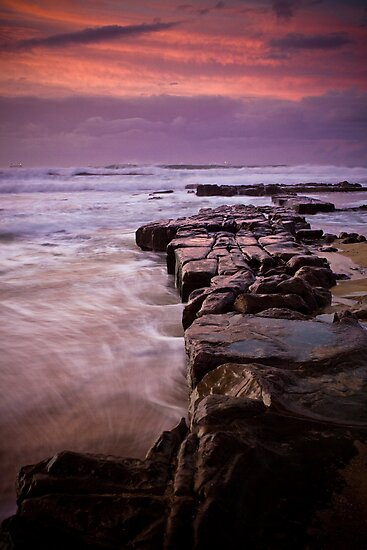 Rocks out to Lady's Surfing Break, Merewether Beach by Ross Wood