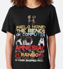 Radiohead Albums Slim Fit T-Shirt
