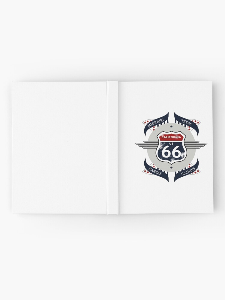 Alternate view of Route 66 my new version Hardcover Journal