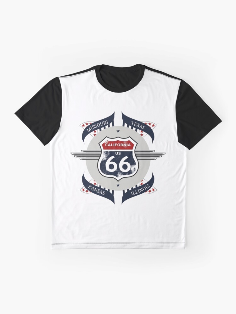 Alternate view of Route 66 my new version Graphic T-Shirt