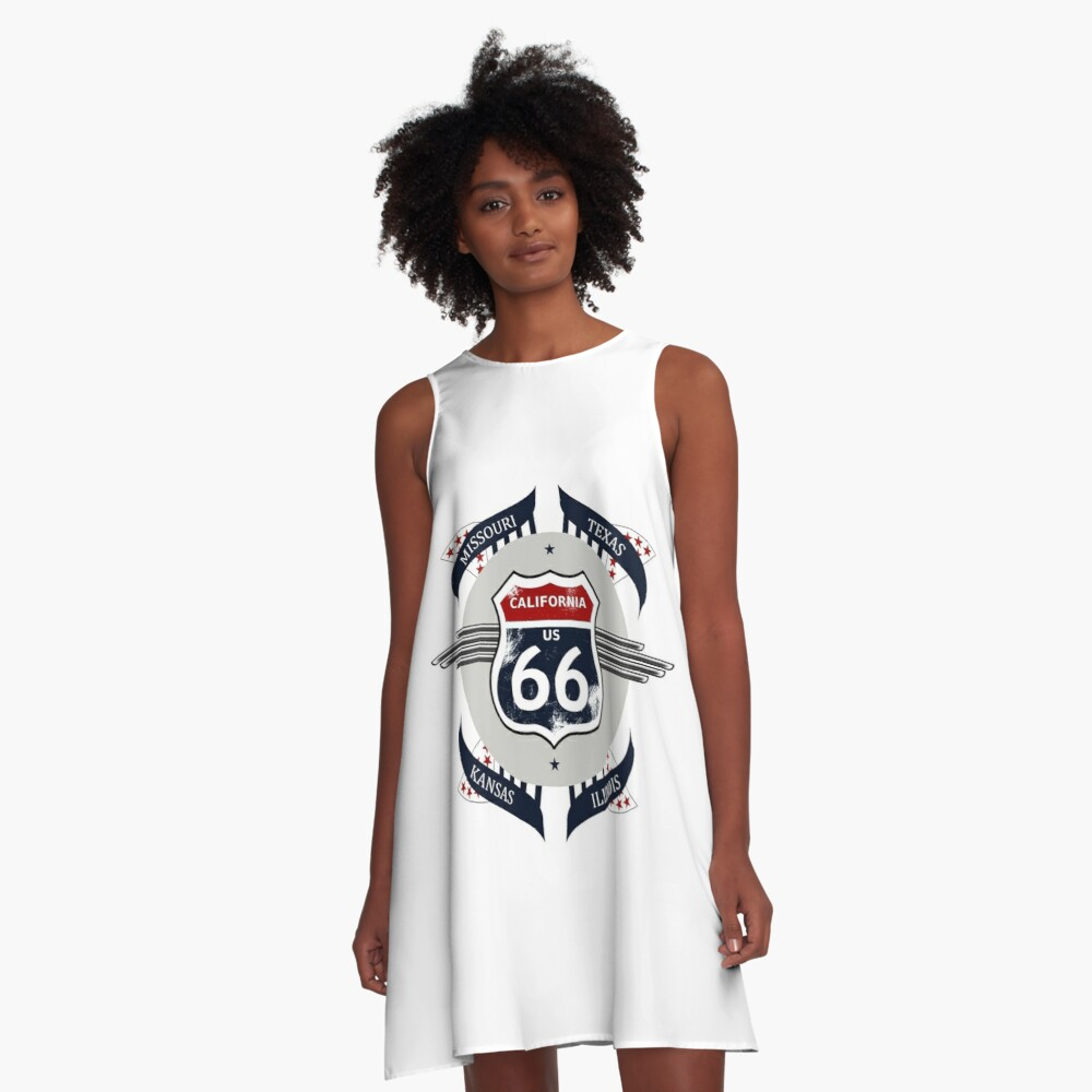 Route 66 my new version A-Line Dress