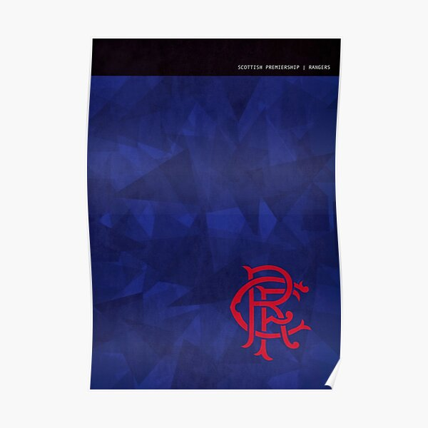 Rangers Minimalistic Poster Poster
