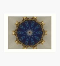 Blue Bead Kaleidoscope Art Print