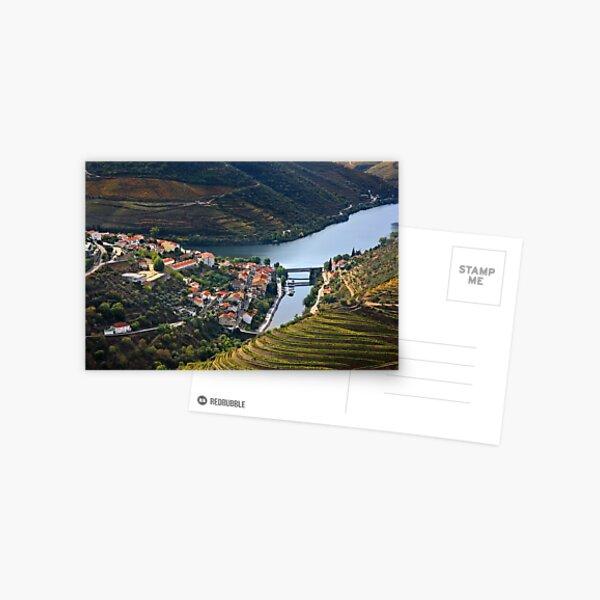 Pinhao town & Douro river - Portugal Postcard