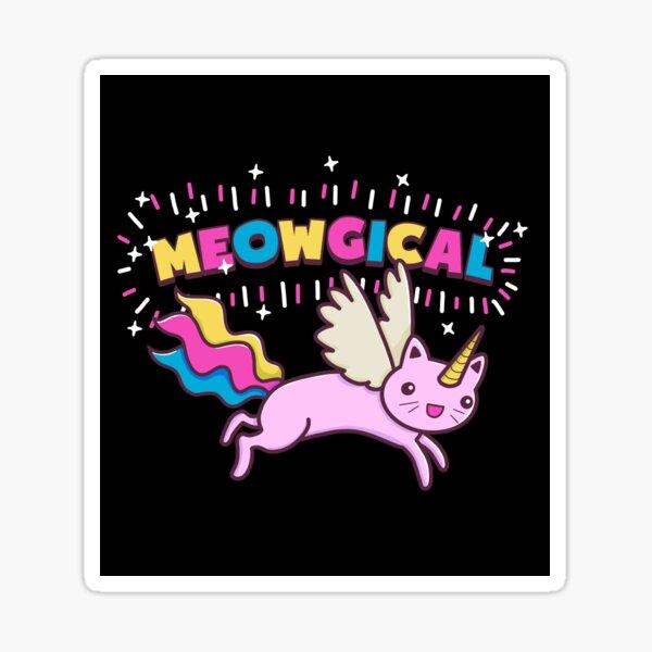 Unicorn Cat | Meowgical Rainbow Sticker