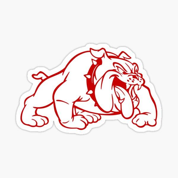 Throwback Wilson Football Helmet Logo (White Bulldog) Sticker
