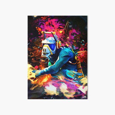 Neon DJ Art Board Print