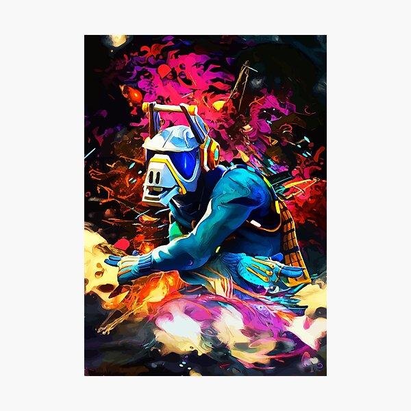 Neon DJ Photographic Print