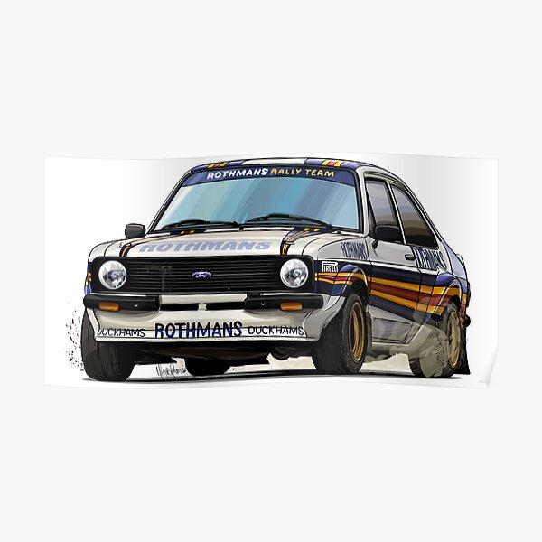 Ford Escort Mk2 Rothmans Rally Team Poster