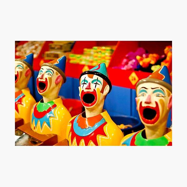 Creepy Clowns Photographic Print