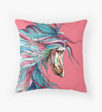 Afghan Hound.Coat of many colours. Throw Pillow