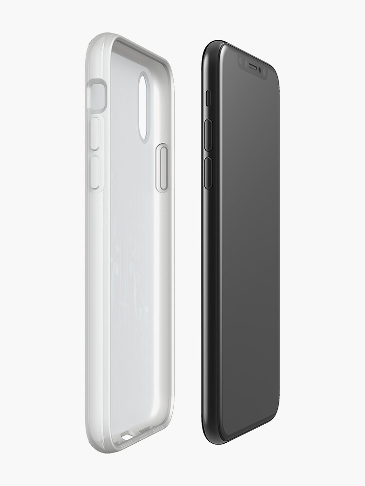 Alternative Ansicht von Blaue Violine mit Noten iPhone-Hülle & Cover