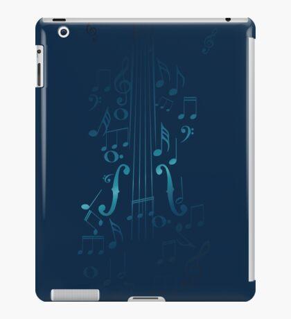 Blaue Violine mit Noten iPad-Hülle & Klebefolie