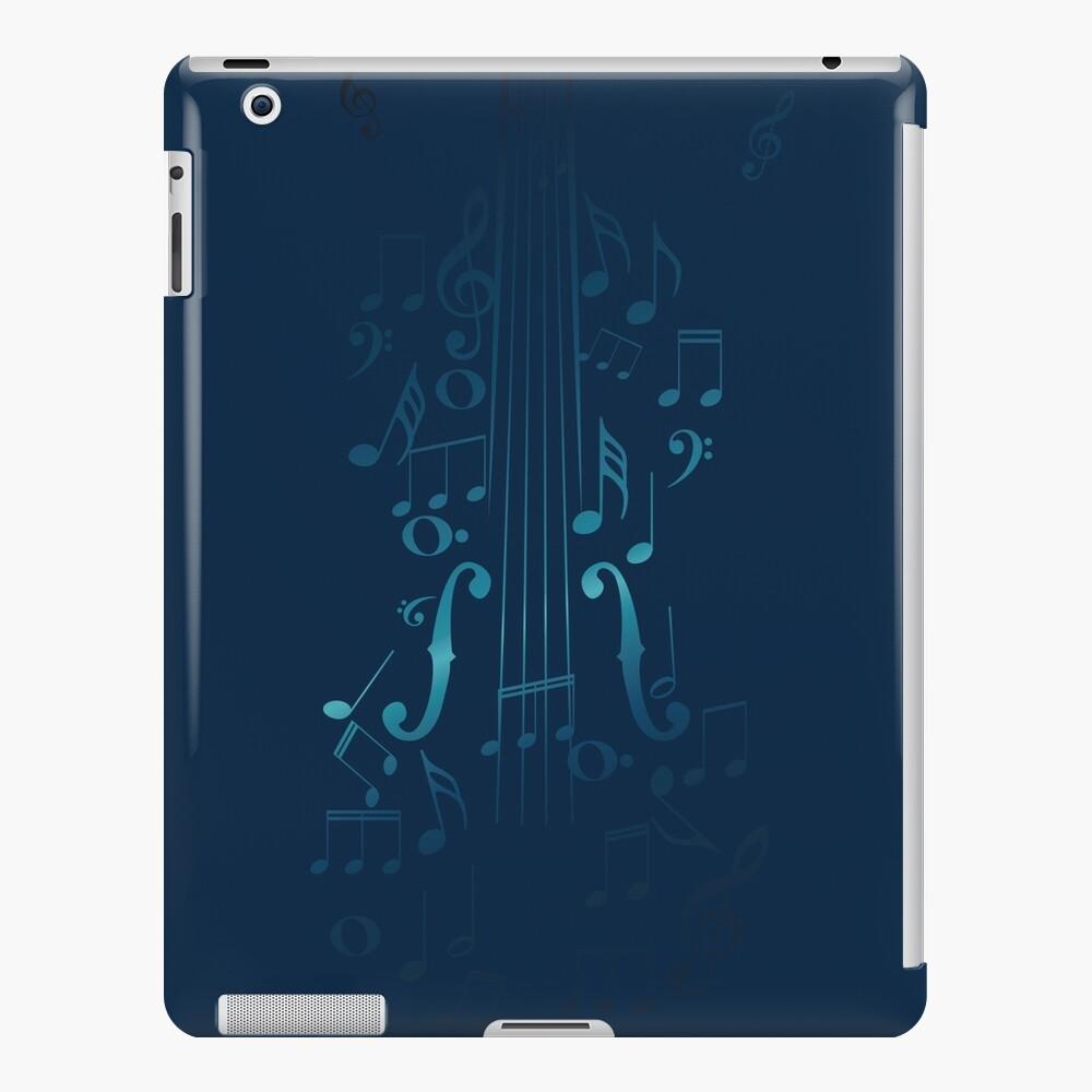 Blaue Violine mit Noten iPad-Hülle & Skin