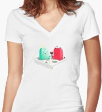 Lets be friends Women's Fitted V-Neck T-Shirt