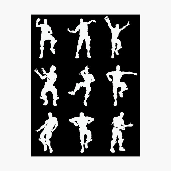 White Emotes Photographic Print