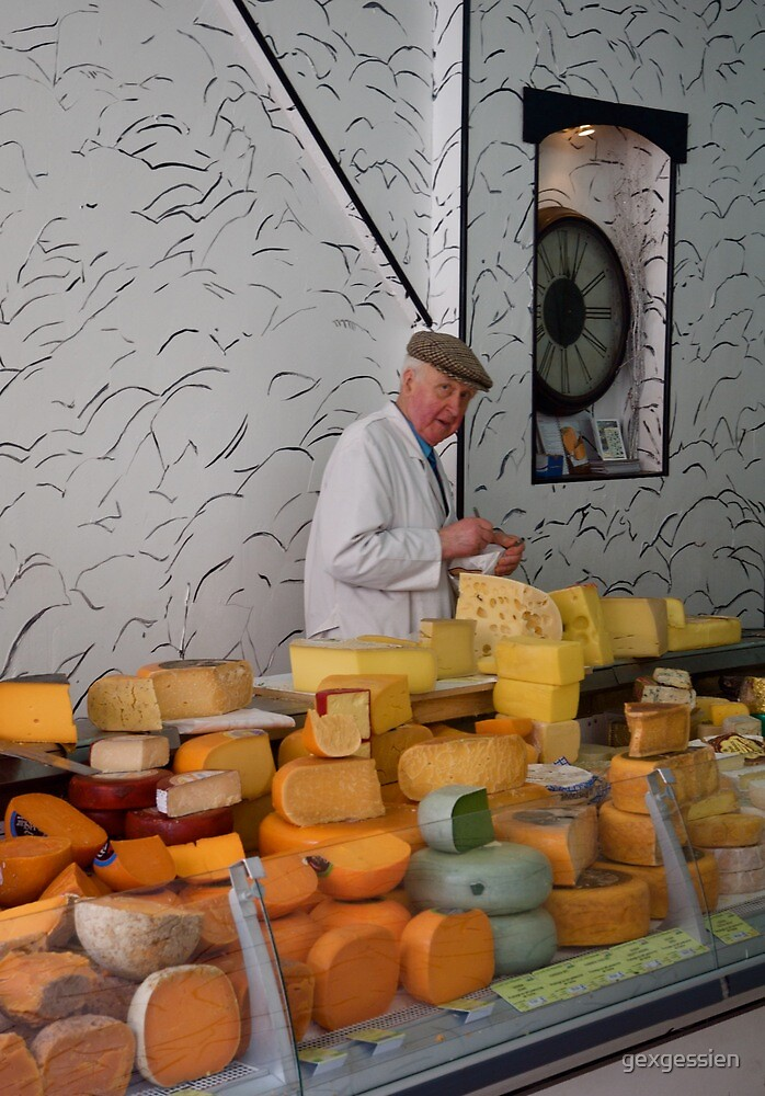 The man & the orange cheese by gexgessien
