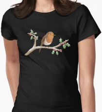 Robin on Branch Women's Fitted T-Shirt
