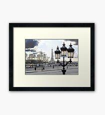 Parisian Mosaic - Piece 17 - Blue Day Framed Print