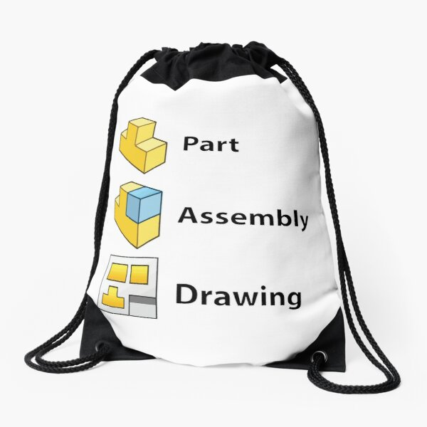 3D Cad/Cam/Cae Solid Works   White Version Drawstring Bag